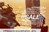 Výpredaj na výbavu pre jazdca BMW Motorrad až do výšky 80%